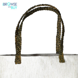 Shopping Bag with  Up Cycled Sugar Cane Leaf Handle