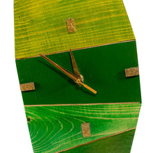 Wooden Contemporary Wall Clock - Shades of Green