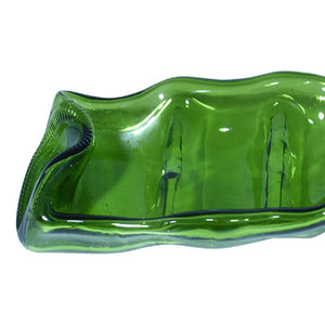 Serving Dish w/ 2 Dividers - Transparent Green