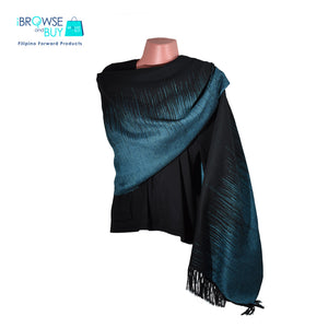 Evening Shawl - Black and Aqua