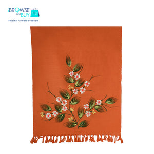 Handpainted Petite Shawl - Orange, Governadora Floral Design
