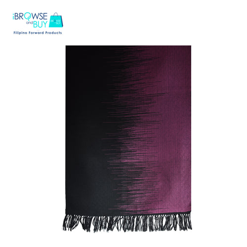 Evening Shawl - Black and Pink