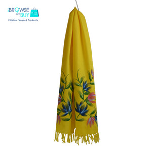 Handpainted Petite Shawl - Yellow, Flordeliz Floral Design
