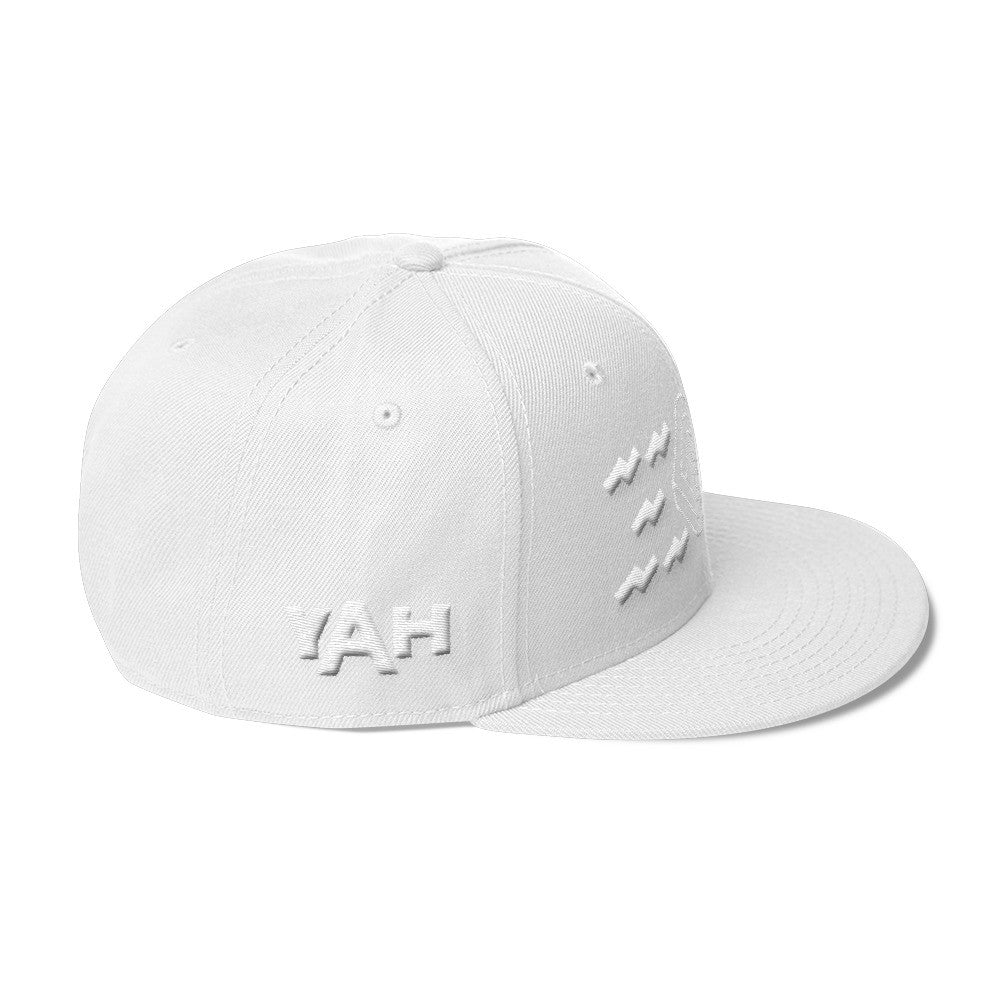 YAH Impossible Eye 3D Puff Snapback White