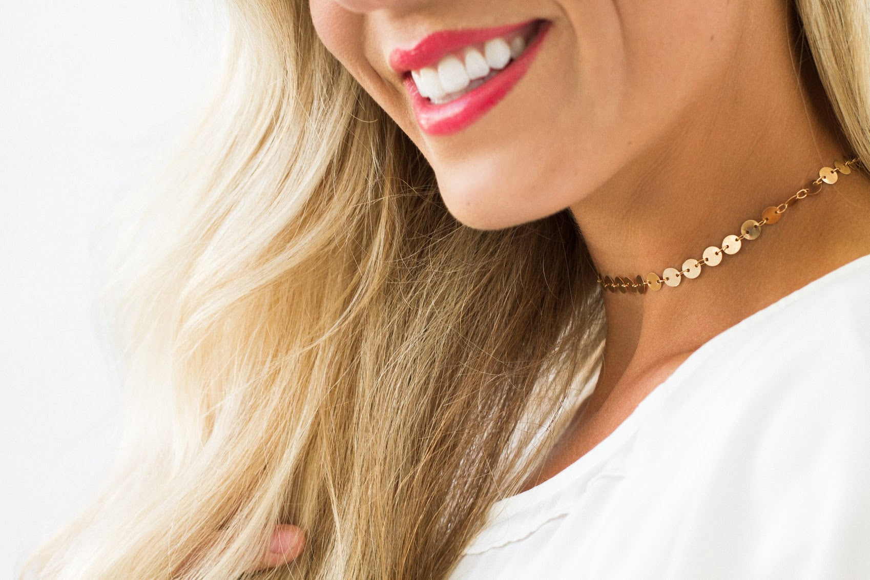 Gold Or Silver Sequin Choker