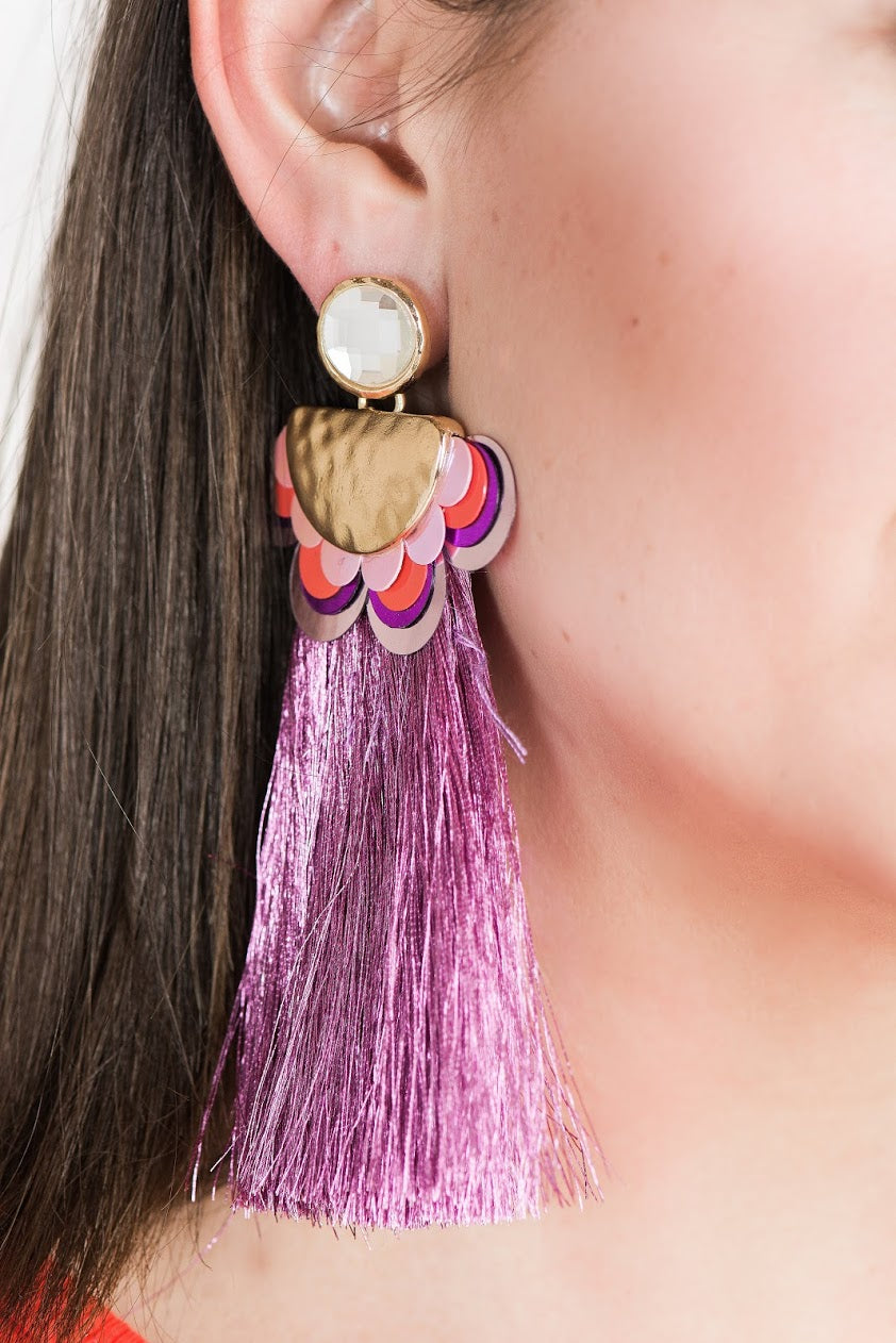 Unicorn Party Tassel Earrings-Multiple Colors!