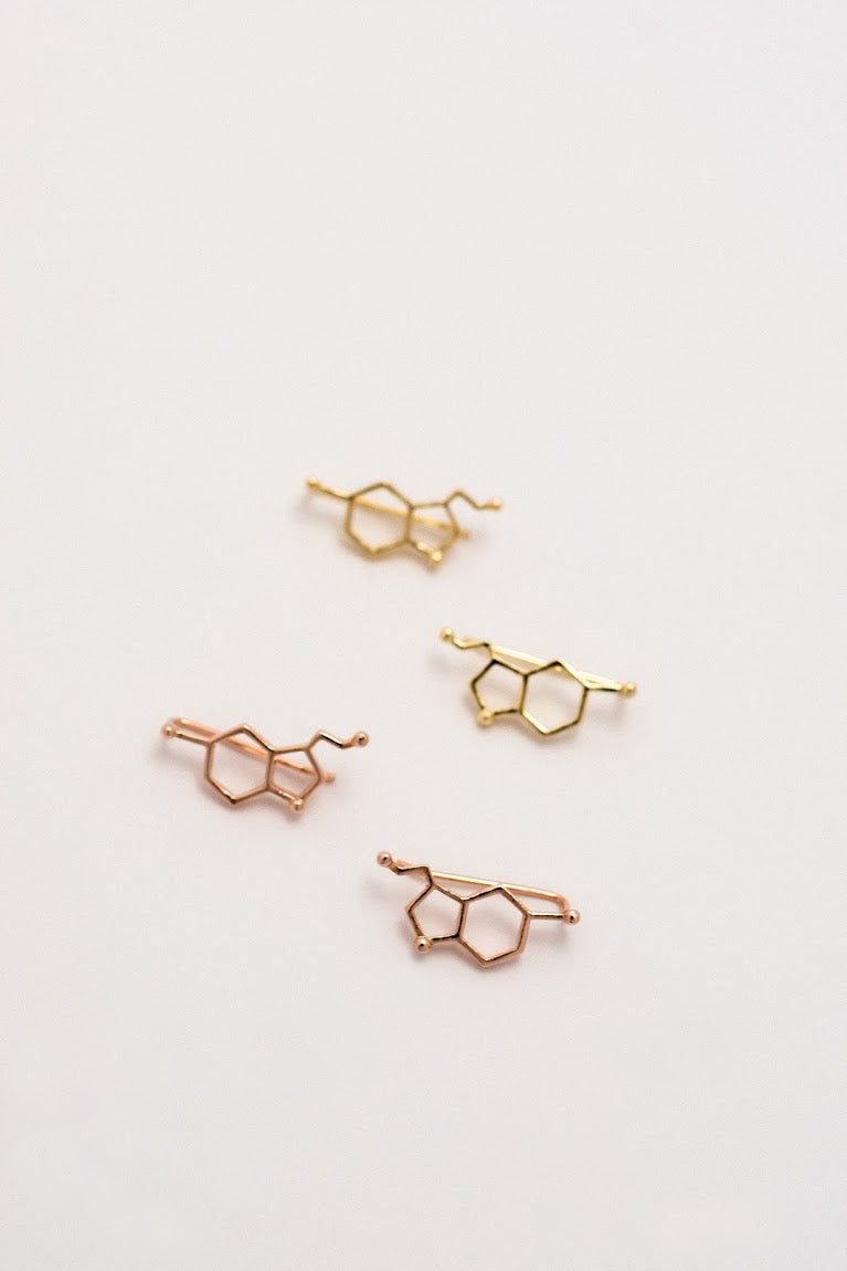 Hexagon Ear Climber Earrings