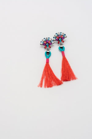 Jewel Tassel Statement Earrings-Multiple Colors!