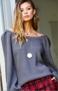 Blue Grey Sweater