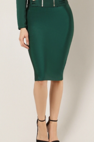 Bandage Green Skirt