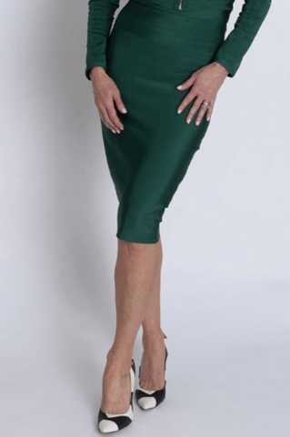 Green Bandage Midi Skirt
