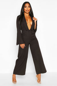 Tailored Wide Leg Jumpsuit