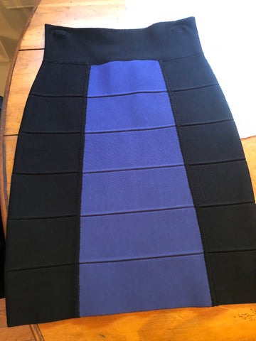 Black/Blue Bandage Skirt