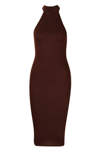 Chocolate Racer Midi Bodycon Dress