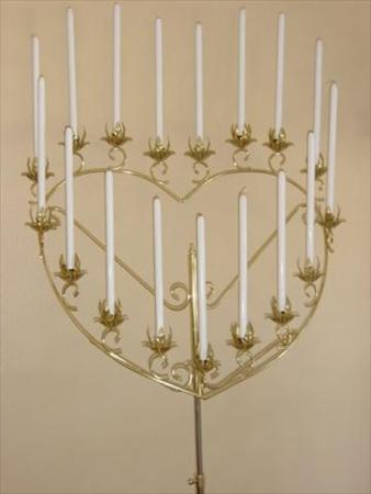 Candelabra Single Heart