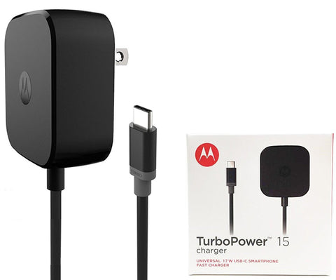 Cargador y Cable Motorola Turbo Power 15 Tipo C