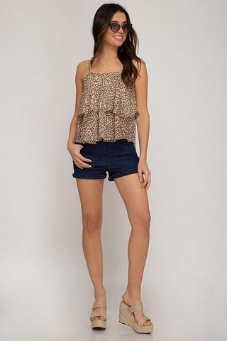 """Let Go"" Leopard Swing Top"