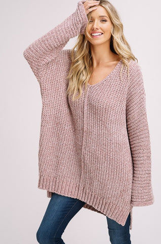 """Easy Like Sunday Morning"" Taupe Sweater"