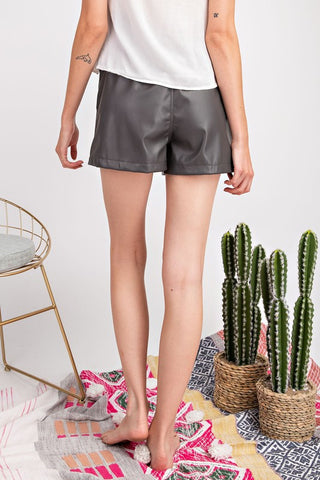 Lovin' My Faux Leather Shorts