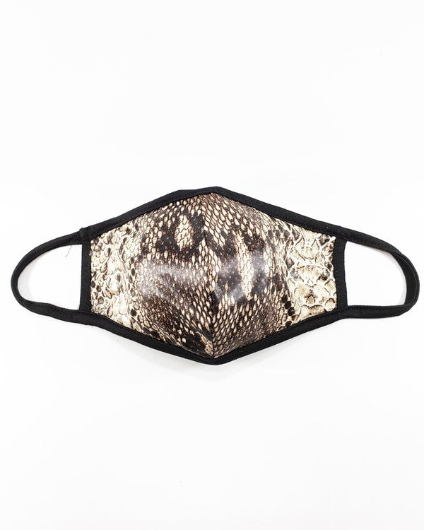 Snakeskin Printed Filter Mask