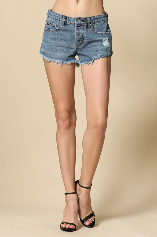 """Walk This Way"" Denim Shorts"