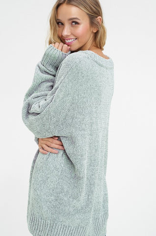 """Carry On"" Sage Sweater"