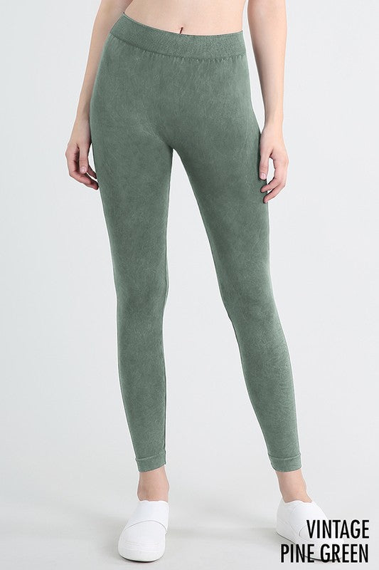 Vintage Pine Green Leggings