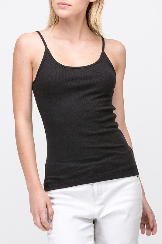 Scoop Front Ribbed Cami Top