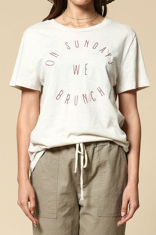 """On Sundays We Brunch"" Tee"
