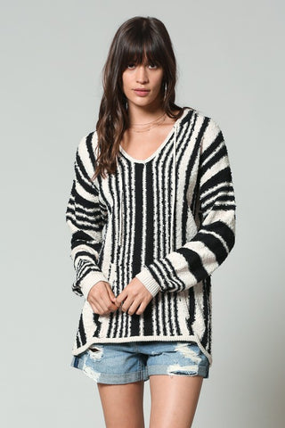 """Stripes on Stripes"" Hoodie Sweater"