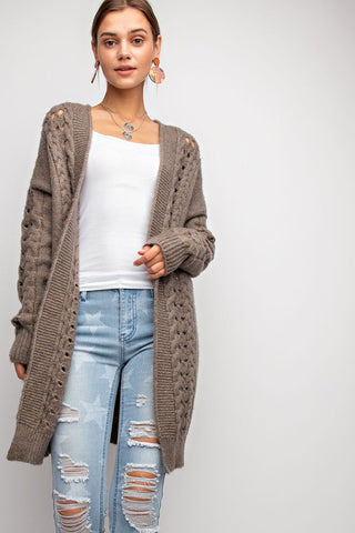 """Over You"" Mocha Cardigan"
