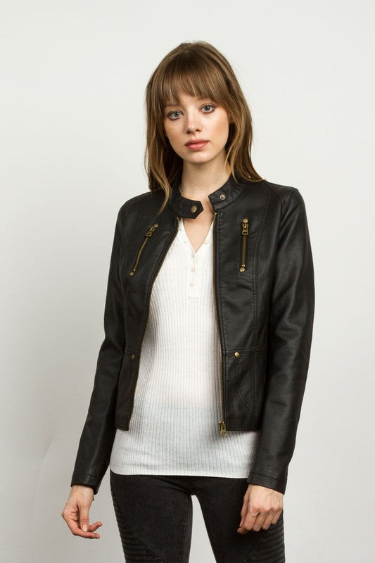 """Take A Ride With Me"" Leather Jacket"