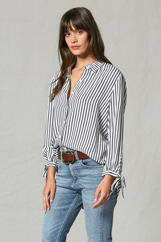 """Don't You Know"" Stripe Button Down"