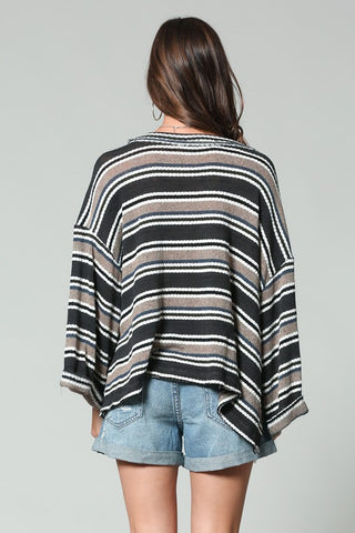 """Please Don't Go"" Stripe Top"
