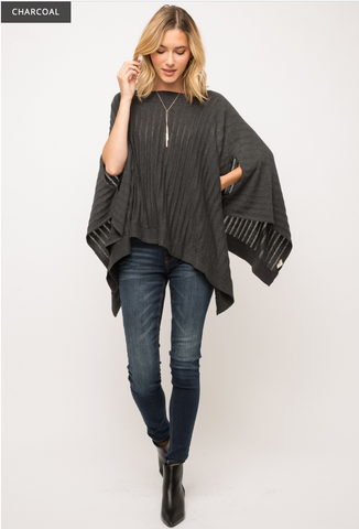 Good And Gone Poncho Top
