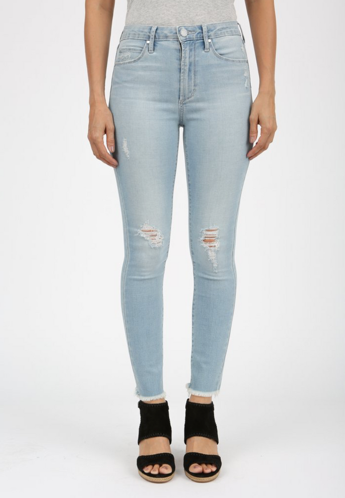 Liverpool Heather Cut Off Hem Jean