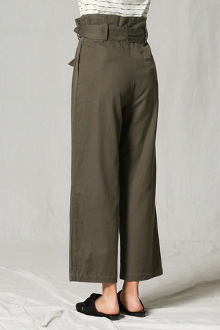 """Something Here"" Olive Trouser Pant"