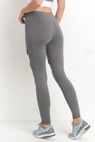Grey Mesh Leggings