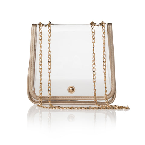 Clear Foldover Purse