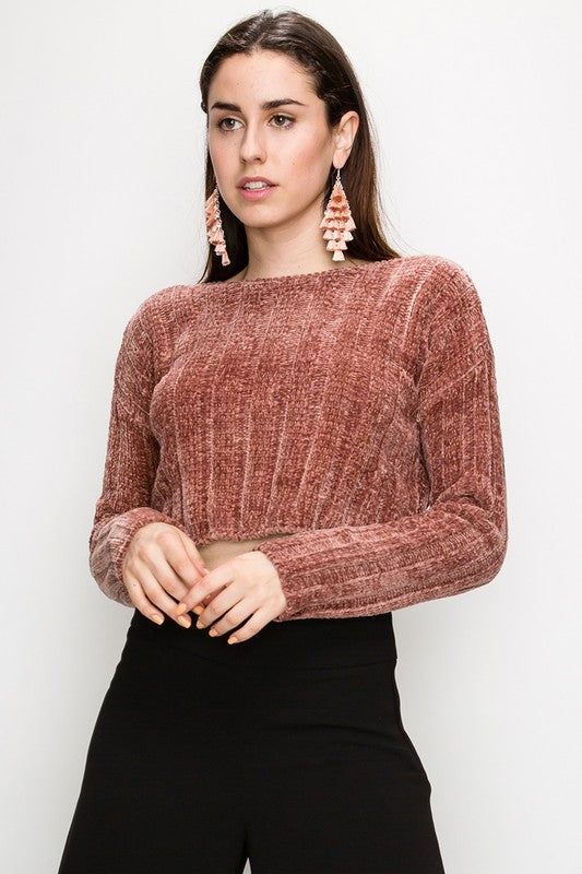 """Out On The Town"" Crop Sweater"