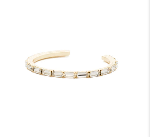 Lisa Oswald Brilliant Baguette cuff by Sorrelli