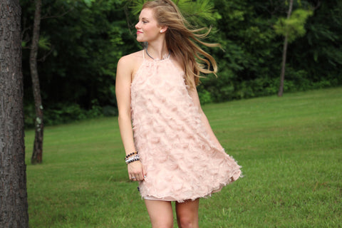 """Night on the Town"" Feather Dress"
