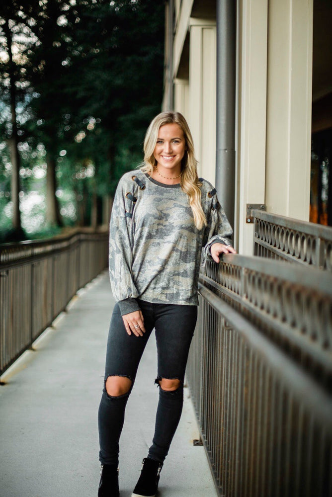 """Into Deep"" Camo Top"