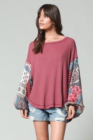 """Never Let You Go"" Paisley Thermal Top"