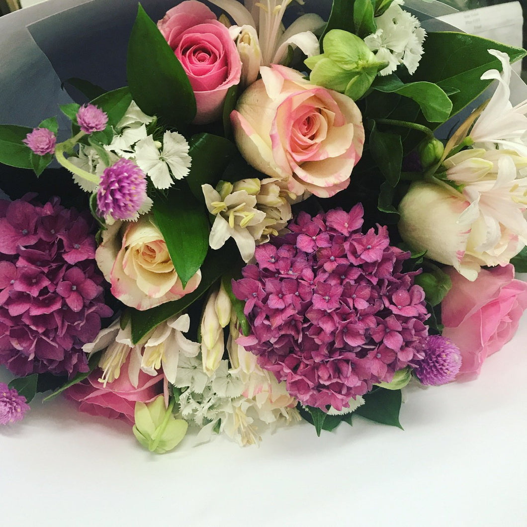 Hydrangeas, Lilies and Roses