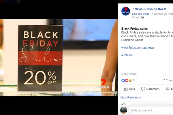 Secrets Black Friday Sale on Channel 7 News