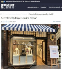 Inside Franchise Business - Secrets targets online for NZ