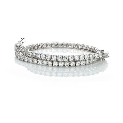 Fine Round Brilliant Tennis Bracelet in White Gold