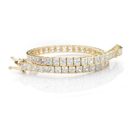 Classic Princess Tennis Bracelet in Yellow Gold