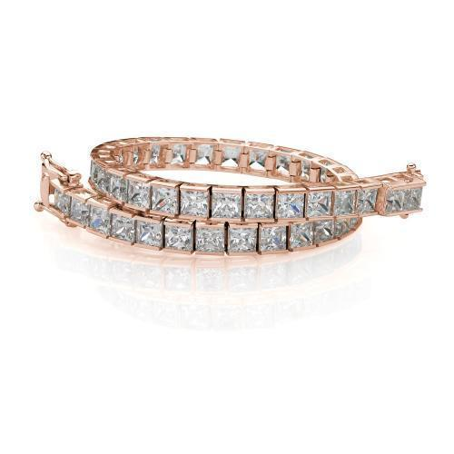 Classic Princess Tennis Bracelet Large in Rose Gold